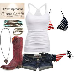 Time Well Wasted if only the bikini was the rebel flag Country Style Outfits, Country Girl Style, Country Fashion, My Style, Country Girl Clothes, Country Jam, Southern Style, Country Life, Trajes Country