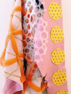 Love this colour combo + textural pattern play