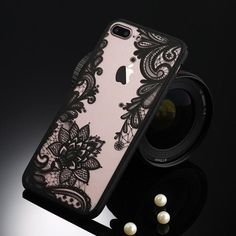 Retro Floral iPhone Case - Flower Black / iPhone 6s Plus / 6 Plus