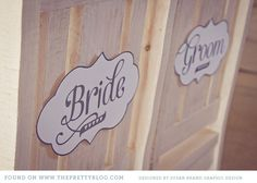 signs for the wedding <3