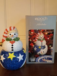 Epoch Collection Noritake Mr. Snowman E115 Cookie Jar #Noritake
