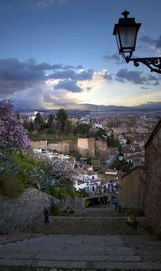 View from Sacromonte Quarter of Granada - Andalusia, Spain Beautiful Places To Visit, Great Places, Places To Go, Granada Andalucia, Andalusia Spain, Places In Spain, Spain Holidays, Spain And Portugal, Spain Travel