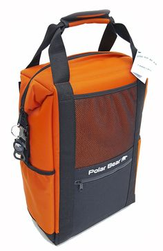 Polar Bear Coolers Nylon Series Backpack Orange. Rugged 1000D Nylon exterior - never rips, scratches or tears; Unbreakable zippers and hardware by YKK. High density open-cell foam insulation provides a minimum of 24 hours frozen ice when packed correctly. Strongest and safest interior liner ever built into a soft cooler - FDA Approved TPU Double-Coated Nylon. Adjustable padded shoulder rest included (not available with 6 Pack size). Want to custom brand your cooler? No problem! Nylon…