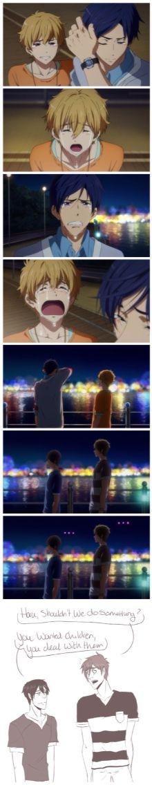 Papaharu and Mamakoto ...  Based on the final episode of season 2  ... Free! - Iwatobi Swim Club, haruka nanase, haru nanase, haru, free!, iwatobi, makoto tachibana, makoto, tachibana, nagisa hazuki, nagisa, hazuki, nanase, rei, rei ryugazaki, ryugazaki