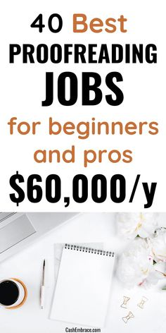 40 well-paying proofreading jobs from home for beginners and pros: earn an online income of $60,000/year correcting mistakes from your home. These are the best freelance proofreading work at home jobs to make extra money.#proofreadingjobsforbeginners#proofreadingonlinejobs#proofreadingworkfromhomejobs#onlinejobs#workfromhomejobs Cash From Home, Make Money From Home, Way To Make Money, Work From Home Opportunities, Work From Home Jobs, Make Money Blogging, Make Money Online, Legit Online Jobs, Virtual Assistant Jobs