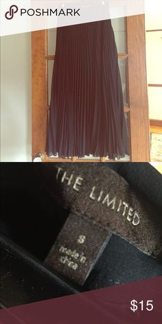 Black pleated maxi skirt Like new! The Limited Skirts Maxi