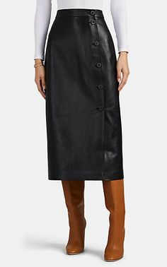 We Adore: The Leather Pencil Skirt from Barneys New York at Barneys New York