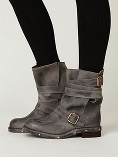 """Brit Boot"" in distressed grey by Jeffrey Campbell, $248.00"