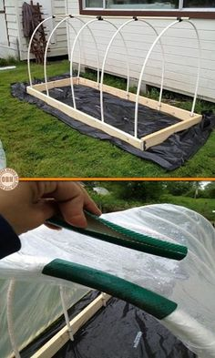 Try hose on my hoops Here's a project that will make your gardening easy! Want flowers or fresh veges all year round? Learn how to make this super-simple garden hothouse by viewing the full album of the project at http://theownerbuildernetwork.co/0ia4 Is this your next project for your garden?
