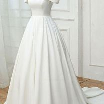 white party dress off-the-shoulder prom dress simple evening dresses high-waisted formal dress sold by shuiruyandresses. Shop more products from shuiruyandresses on Storenvy, the home of independent small businesses all over the world. Lace Evening Dresses, Prom Dresses, Formal Dresses, Wedding Dresses, Photos Of Dresses, Simple Prom Dress, White Off Shoulder, Colored Highlights, One Shoulder Wedding Dress