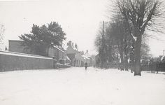 Railway Road and the Green, Downham Market, Norfolk in winter 1939-40: Where the Dalston County Secondary Grammar School for Girls, Hackney, London were evacuated in WW2.