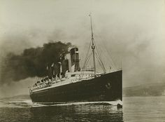 """Here's """"Mauretania"""" at full speed, built by the shipbuilders Swan Hunter and Wigham Richardson Ltd, at the Wallsend shipyard, RMS MAURETANIA was one of the most famous ships ever built on Tyneside, UK - Ref number: TWAS:DS.SWH/4/PH/7/6/  - 'Tyne & Wear Archives & Museums'"""