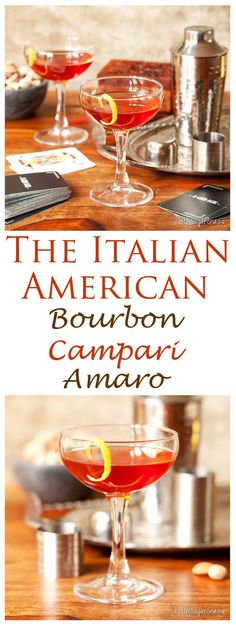 The Italian American blends classic American flavours with 2 Italian liqueurs. This Bourbon, Campari & Amaro Cocktail is mellow, well-rounded & delicious.