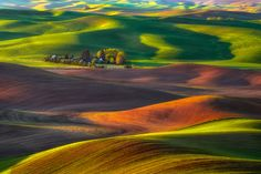 Home Within the Hills by Michael Brandt. Early morning scene in the Palouse Hills.