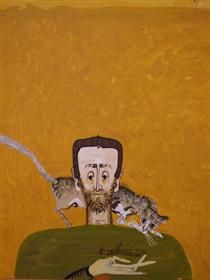 The Man with Cat and Dragonfly - Sorin Ilfoveanu