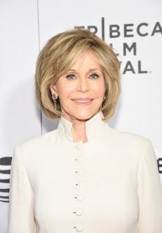 Short Hairstyles Lookbook: Jane Fonda wearing B.o.B (4 of 7). Jane Fonda attended the world premiere of 'The First Monday in May' wearing her hair in a textured bob.