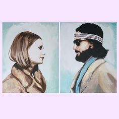 ***feautured on A Beautiful Mess***    I always wanted to be a Tenenbaum. Richie and Margot Tenenbaum.  2 prints measuring 8.5 x 11 with a white