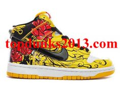 finest selection 1cd48 0886d Outstanding Life and Death Flower Yellow Red Black Nike SB Dunk High Top Nike  Sb Dunks