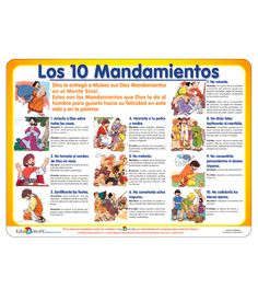 Los diez mandamientos – Educactivity Catholic Kids, Bible For Kids, Faith In God, Sunday School, Prayers, Activities, Education, Cards, Ideas