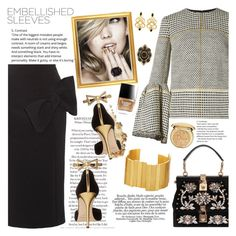 """""""Make a Statement: Embellished Sleeves"""" by martinabb ❤ liked on Polyvore featuring Roksanda, Oscar de la Renta, Dolce&Gabbana, Butter London, Christian Dior, Stephanie Kantis and Gucci"""