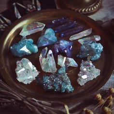 "beautycreek: "" Aura quartz magic ✨ https://www.beautycreek.etsy.com """