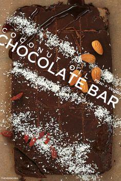 Coconut Oil Chocolate Bar (Basic Raw Choc Recipe // Raw   Vegan   Dairy-Free)