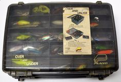 SOLD! Junk Drawer Lot Fishing Tackle Box 30+ Lures Weights Misc Gear Heddon Bagleys