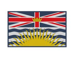 British Columbia Flag Embroidery Design by OCDEmbroidery on Etsy