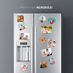 Save Off on custom photo magnets. Photo magnets are perfect as an photo gifts. Select any sizes, shapes and material to create personalized photo magnets online from CanvasChamp. Picture Magnets, Quality Photo Prints, Acrylic Photo, Square Photos, Custom Photo, Tool Design, Clear Acrylic, Photo Gifts, Clip Art