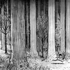 Juxtapoz Magazine - The Work of Ryan Andrews Forest Illustration, Landscape Illustration, Graphic Illustration, Illustrations, Illustration Styles, Digital Illustration, Texture Drawing, Leaf Drawing, Texture Art