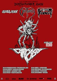 Carcass to Join Death Crusher Tour - http://www.tunescope.com/news/carcass-to-join-death-crusher-tour/