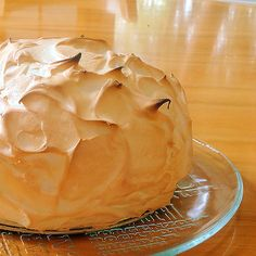 One Perfect Bite: Baked Alaska with Rum Raisin Ice Cream is a fabulous dessert to serve on special occasions. I know you'll love it..