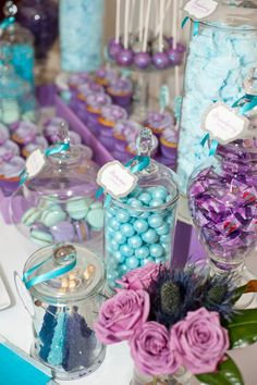 for Angelas birthday#Repin By:Pinterest++ for iPad# Fiesta Frozen, Frozen Party, Frozen Candy Buffet, Peacock Baby, Peacock Wedding, Purple Wedding, 40th Birthday, Blue Birthday, Frozen Birthday