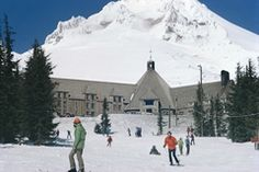 Skiing at the Timberline Lodge, Oregon  Skied here with Don & Josh