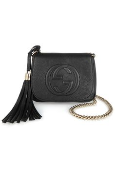 GUCCI Soho small textured-leather shoulder bag A$1,140.01
