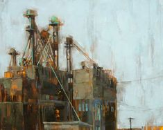"All the rest is rust. Angie Renfro. 30""x24"". Oil on panel. 2010"