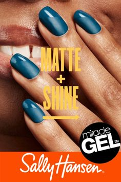 Aug 2019 - Miracle Gel is Sally Hansen's ultimate chip-resistant polish. Get a gel-like mani in just 2 simple steps. Creating a customizable look by combining our matte & shiny topcoat for a trendy take on nail art. Nails Polish, Matte Nails, Nail Polish Colors, Acrylic Nails, Clear Acrylic, Fabulous Nails, Gorgeous Nails, Pretty Nails, Colorful Nail Designs