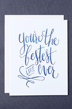 Bestest Like Ever Card — Leen Jean Studios Kathleen's work is top notch!