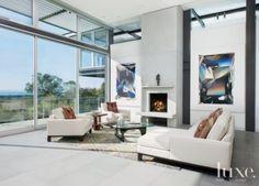 Modern Living Room Glass Wall
