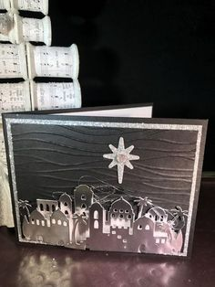 The Night in Bethlehem Bundle is stunning. The Edgelits Dies are amazing. This card was designed by Lori Constant and myself. Yesterday morning Lori and I worked together to create our version of this amazing night. Take a moment to look at all the movement that this card seems to have. The flow of the …