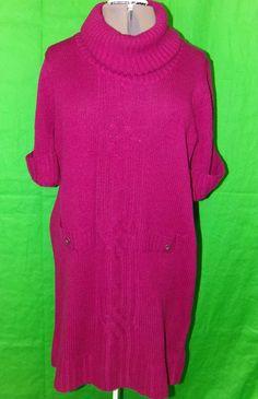 Laura Scott Woman Grey Plus Size Short Sleeve Cardigan Sweater ...
