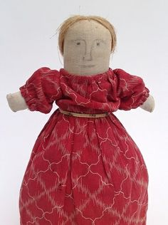 Antique Early American Cloth Doll 1825-1850