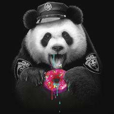 Adam Lawless Donut Cop Panda PandaPanda LovePanda ArtPanda Wallpaper IphonePanda