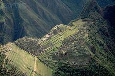 aerial view Machu Picchu | Aerial View of Inca City, Machu Picchu. - YA009413 - Rights Managed ...