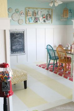 Yellow and white painted concrete floors, quick tutorial!