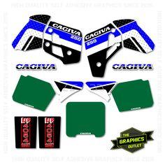 CAGIVA WMX 250 1989 - OEM STYLE REPLICA FULL MOTOCROSS GRAPHICS KIT