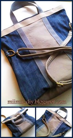 MiiMii - crafts for mom and daughter.: How to sew a bag from old jeans.