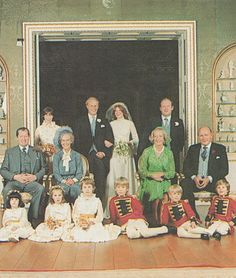 The wedding of Lady Sarah Mccorquodale.