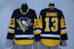 Penguins 13 Nick Bonino Black Reebok Jersey