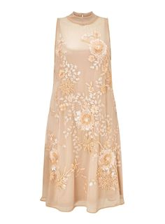 Beautiful nude embroidered sequin dress by Miss Selfridge